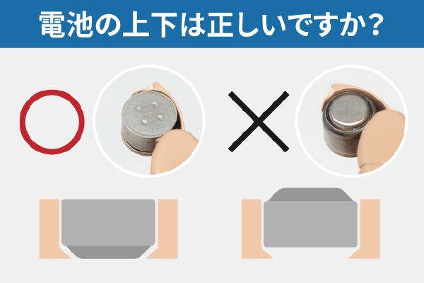 耳かけ式補聴器電池の交換方法03
